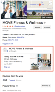 Google Post appearing in Knowledge Graph
