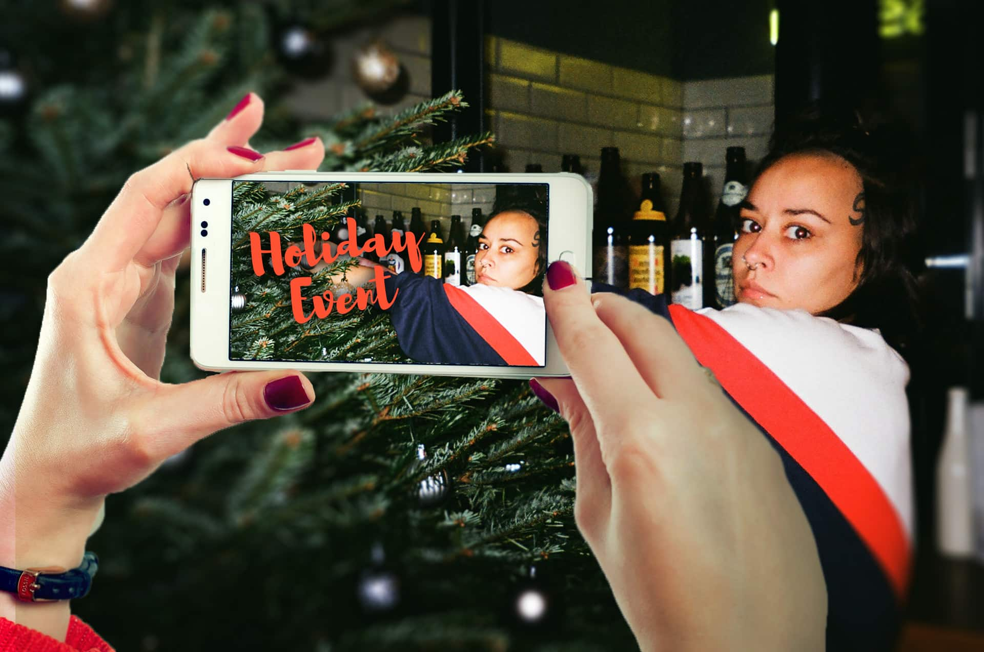 using social media to promote holiday events