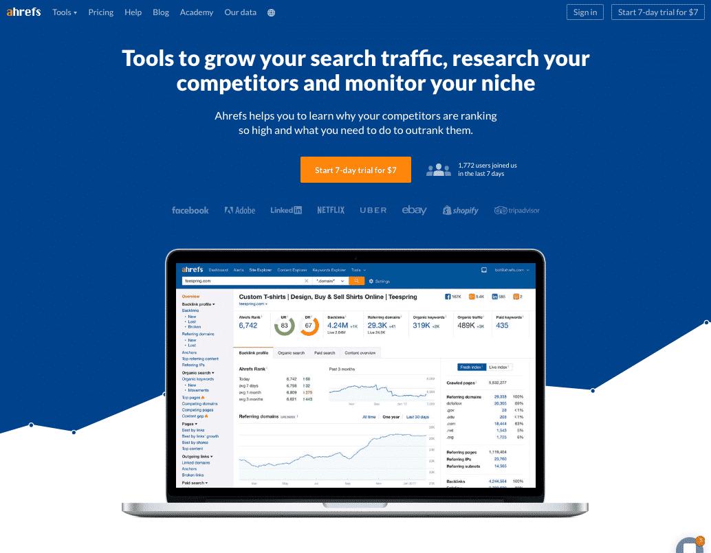 Best keyword research tool Ahrefs