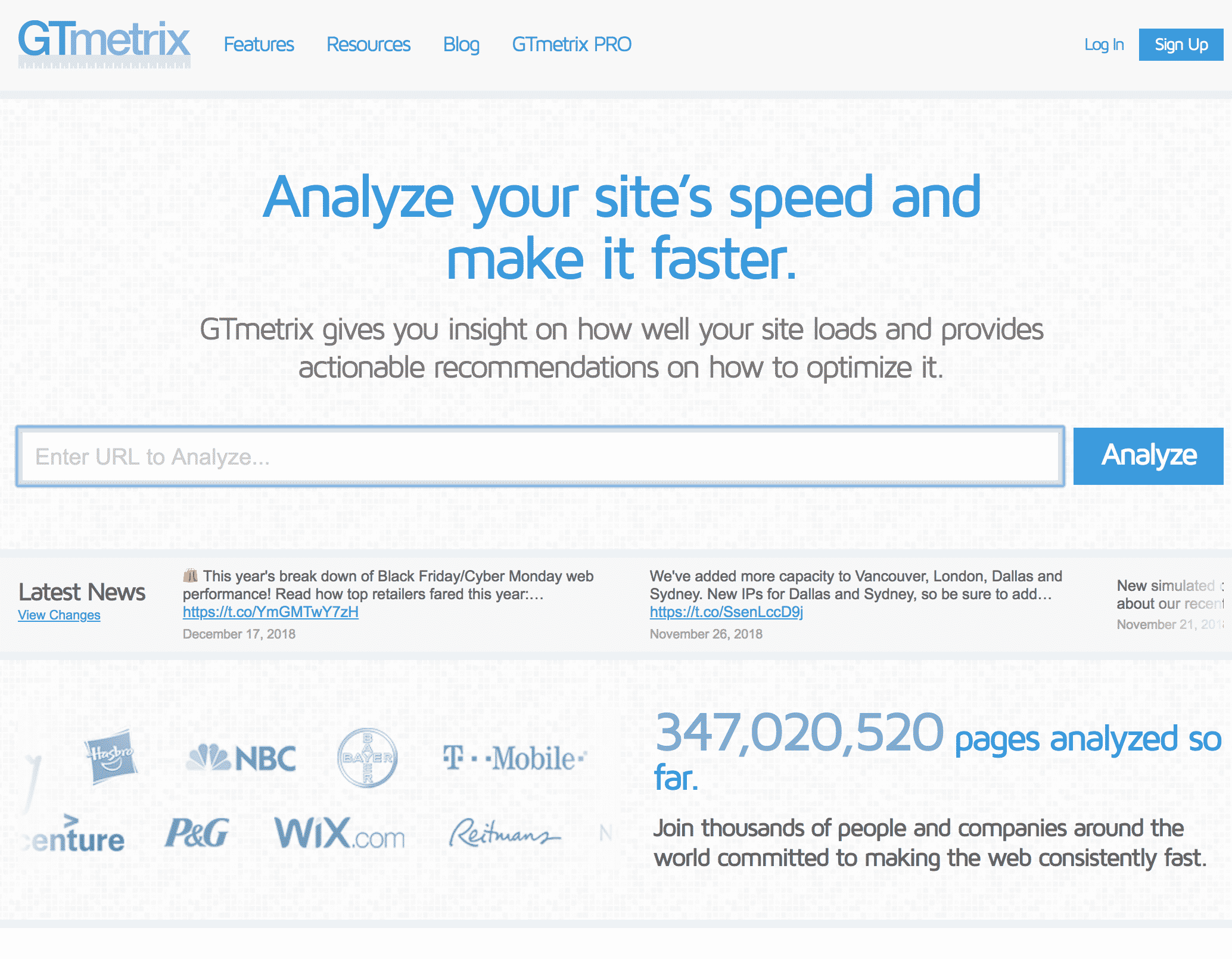 GTmetrix - analyze your site's speed and make it faster