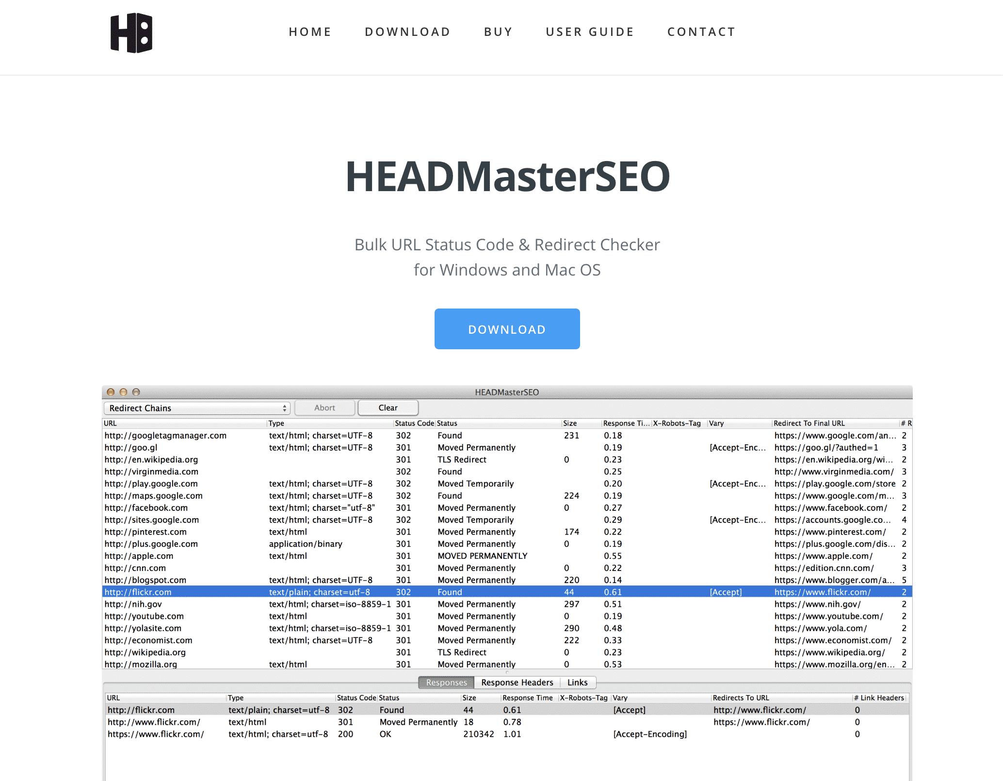 SEO monitoring tool - link checker HEADMasterSEO