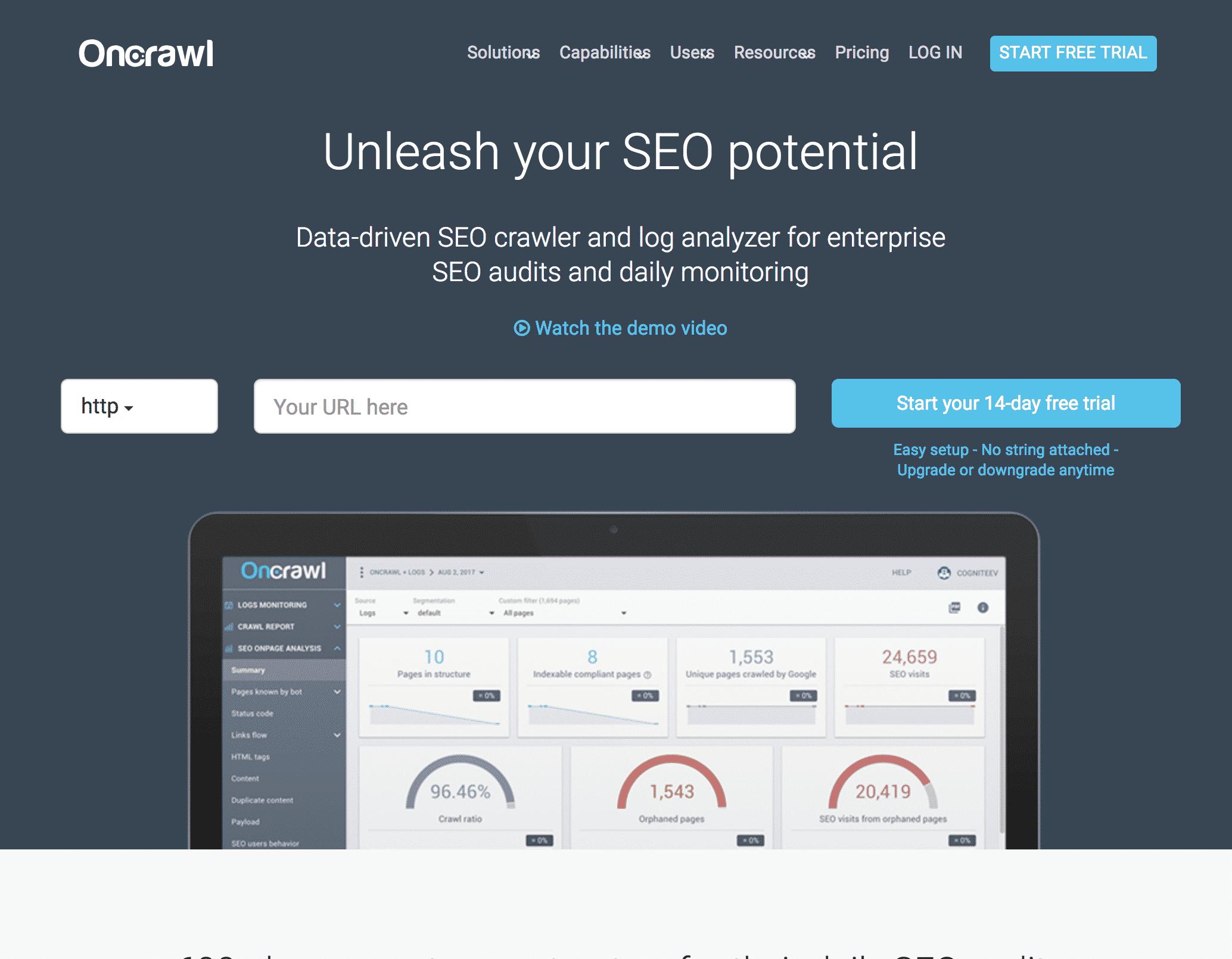 OnCrawl SEO website crawler