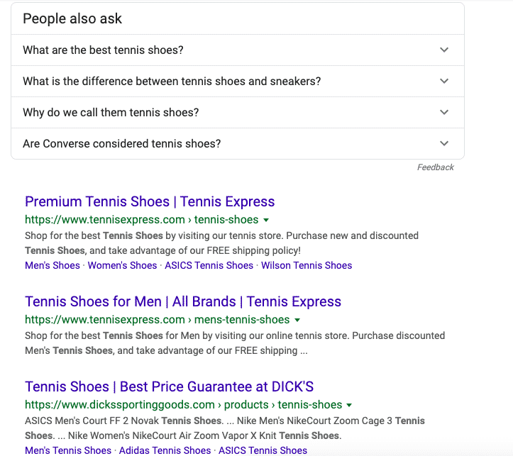 Organic search results for