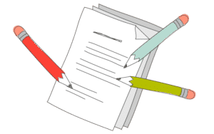 illustration of a document collaboration