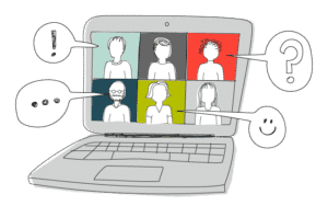 illustration of video conferencing