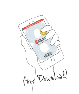 mobile device with SEO tip sheet